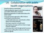 uk collaboration with public health organisations