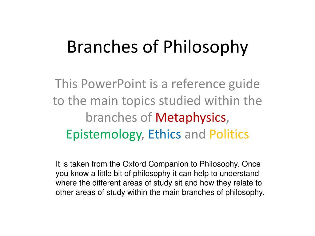 philosophy and branches