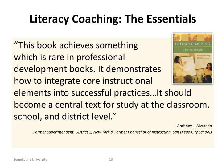 Literacy Coaching: The Essentials