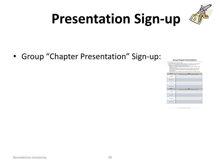 Presentation Sign-up