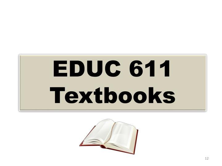 EDUC 611 Textbooks