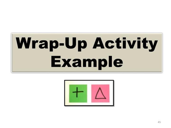 Wrap-Up Activity Example