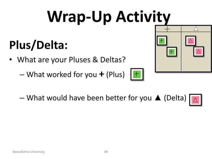 Wrap-Up Activity