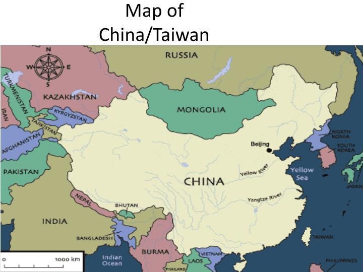 Map of China/Taiwan
