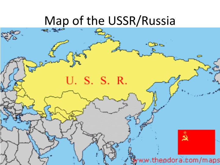 Map of the USSR/Russia