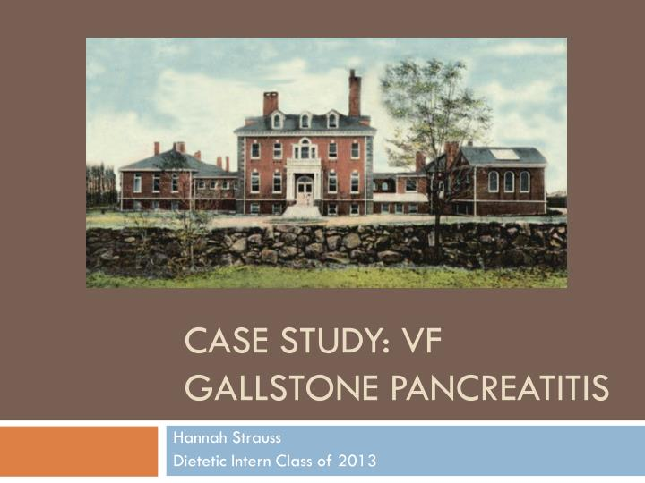 pancreatitis case study paper