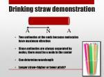 drinking straw demonstration