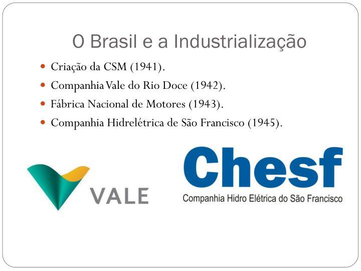 O Brasil e a Industrialização