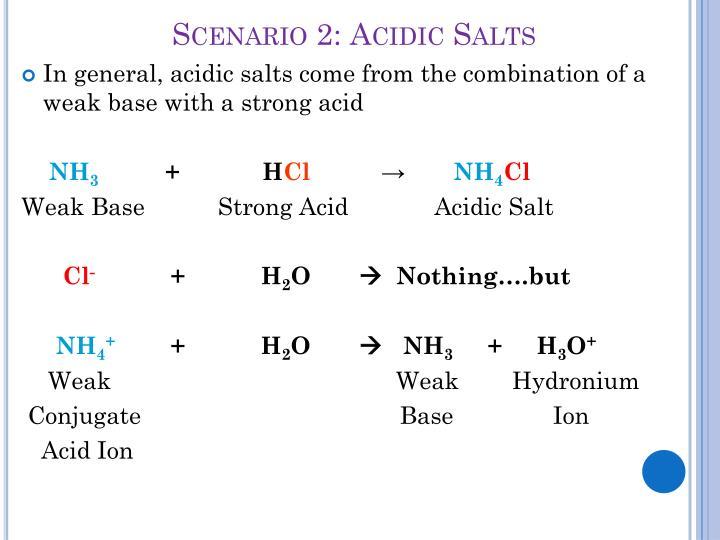 Scenario 2: Acidic Salts