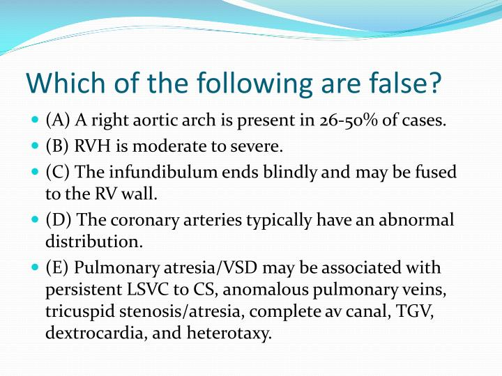 Which of the following are false?