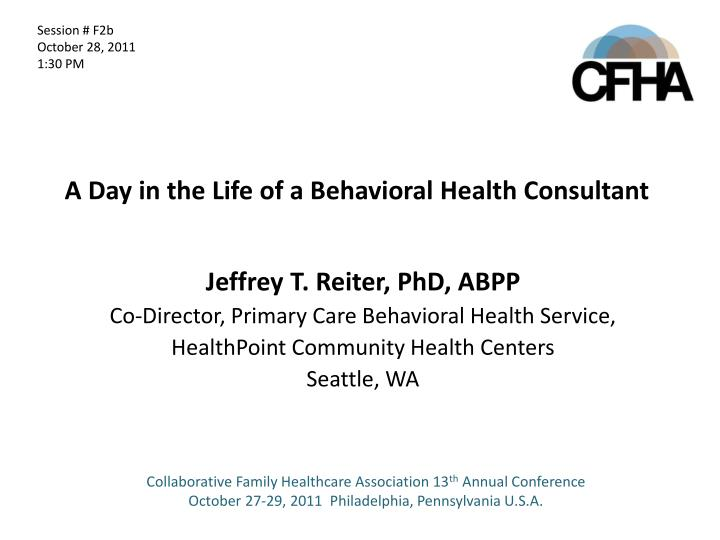 a day in the life of a behavioral health consultant n.
