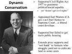 dynamic conservatism