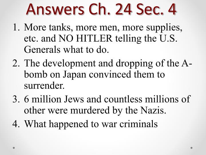 Answers Ch. 24 Sec. 4