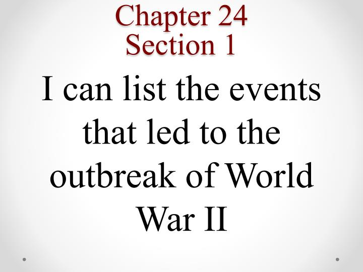 Chapter 24 section 1