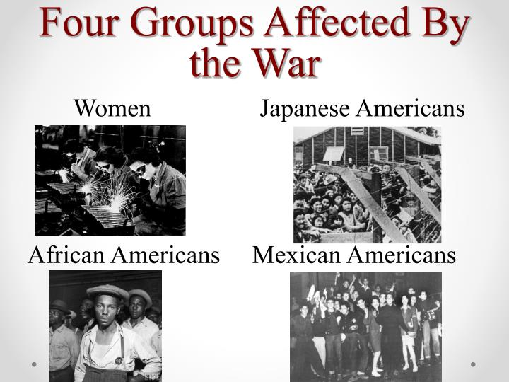 Four Groups Affected By the War