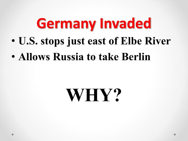 Germany Invaded