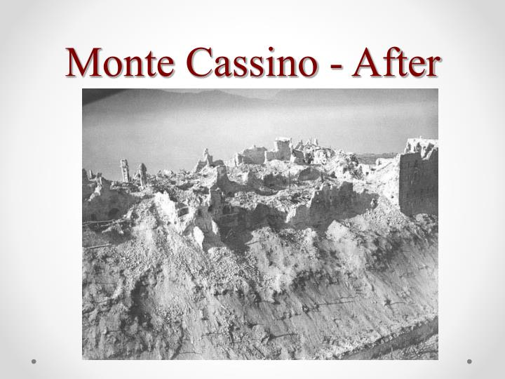 Monte Cassino - After