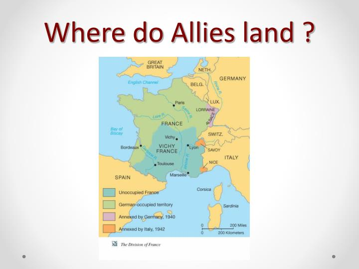 Where do Allies land ?