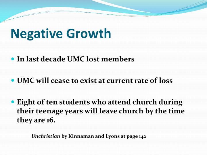 Negative growth