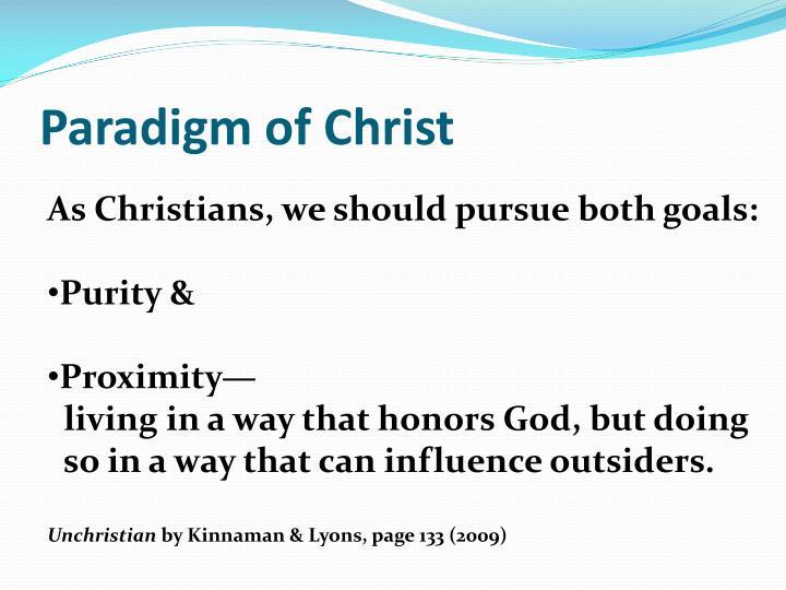 Paradigm of Christ