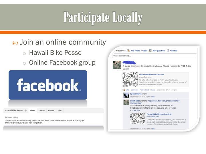 Participate Locally