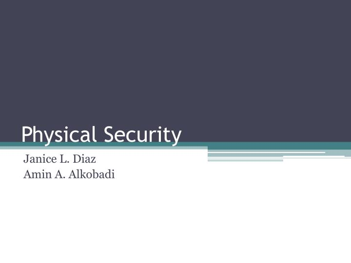 physical security n.