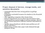 proper disposal of devices storage media and sensitive documents