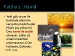 fatiha 2 hamd9