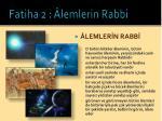 fatiha 2 lemlerin rabbi11