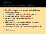 fatiha 4 din g n n n m liki meliki5