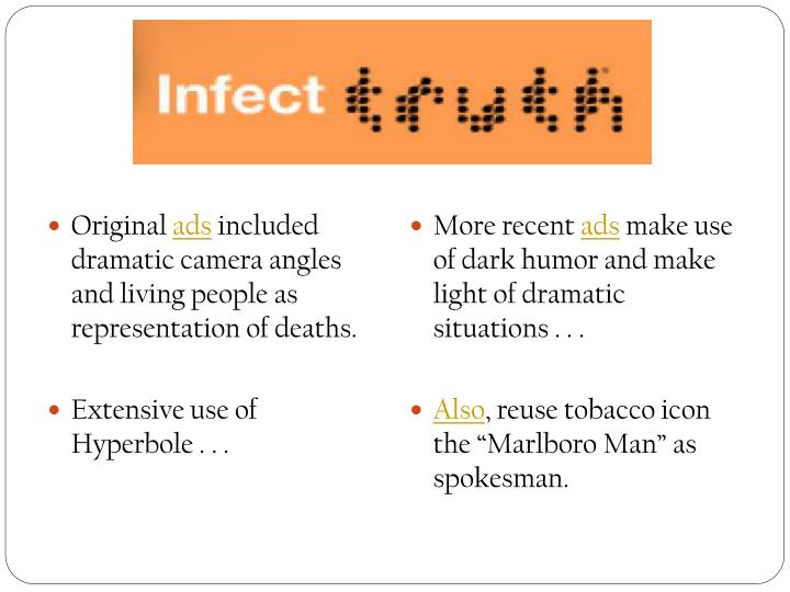 analysis of anti-smoking advertisements essay An anti-smoking ad term paper id:43409 get this paper free or buy this paper essay subject: this paper is an analysis of an anti-smoking ad examining the ad's visual the audience targeted by the advertisement is smokers, and the ad isattempting to persuade them to stop smoking.