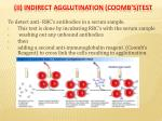 ii indirect agglutination coomb s test