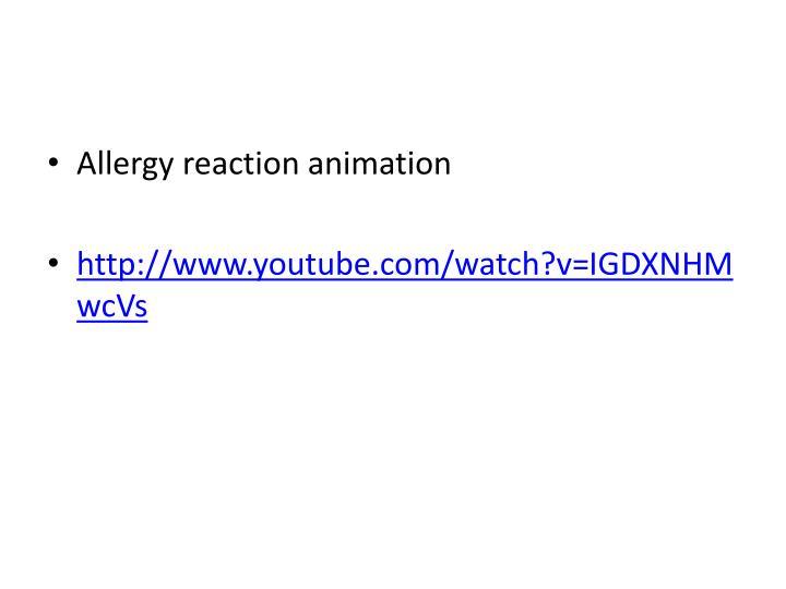 Allergy reaction animation