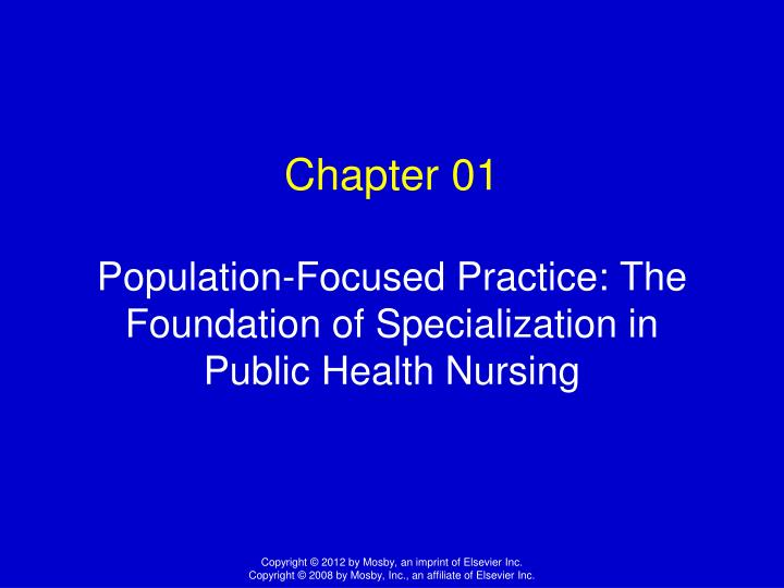 community health population focused nursing Community health and population - focused nursing practicum evaluate how models used for valuing stock options can be adapted to other underlying assets such as stock indexes october 11, 2018.