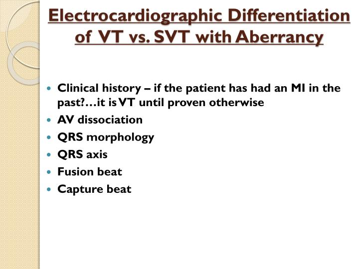 Electrocardiographic Differentiation