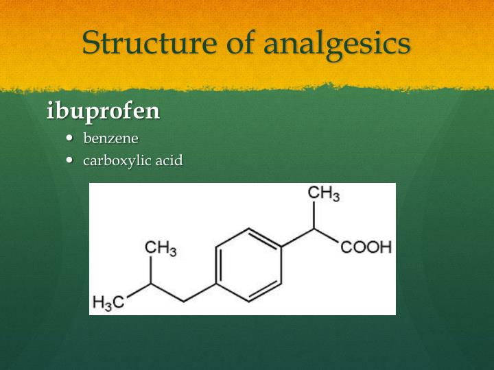 Structure of analgesics