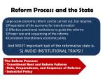 reform process and the state