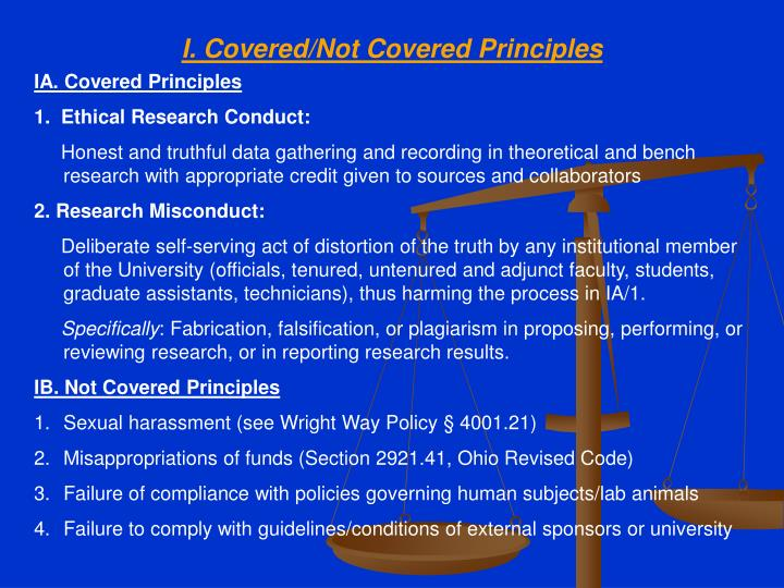 I covered not covered principles