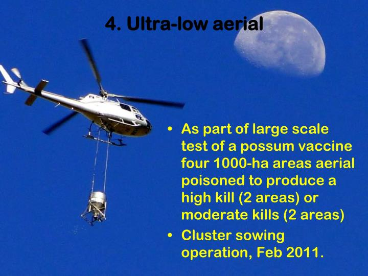 4. Ultra-low aerial