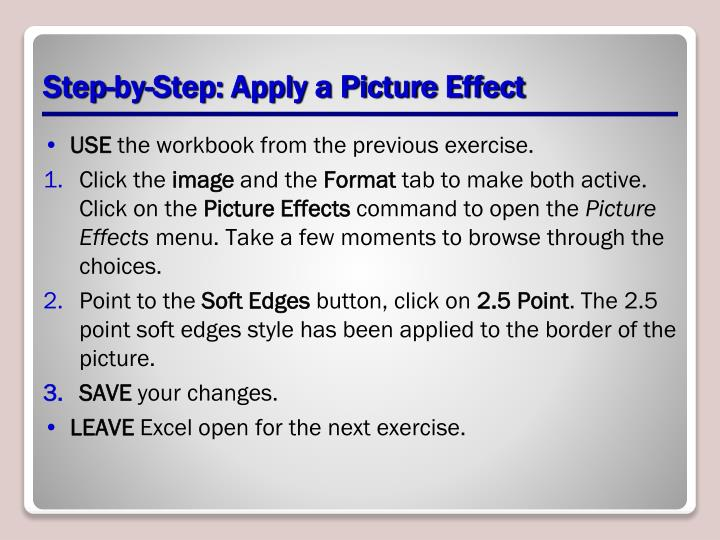Step-by-Step: Apply a Picture Effect