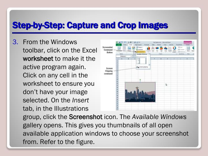 Step-by-Step: Capture and Crop Images