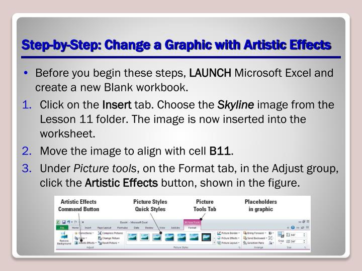Step-by-Step: Change a Graphic with Artistic Effects