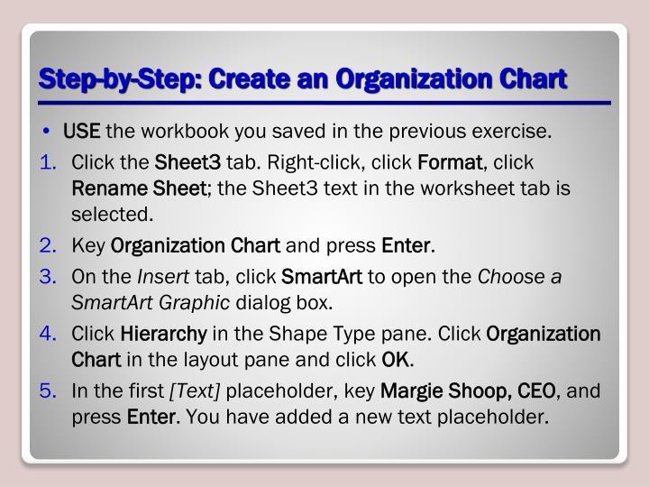 Step-by-Step: Create an Organization Chart