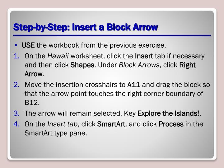 Step-by-Step: Insert a Block Arrow