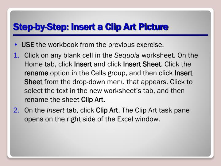 Step-by-Step: Insert a Clip Art Picture