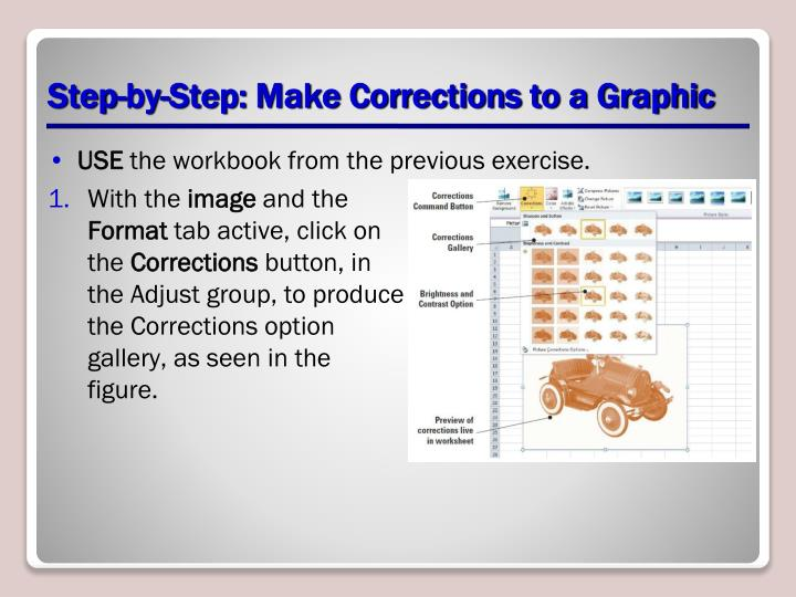 Step-by-Step: Make Corrections to a Graphic