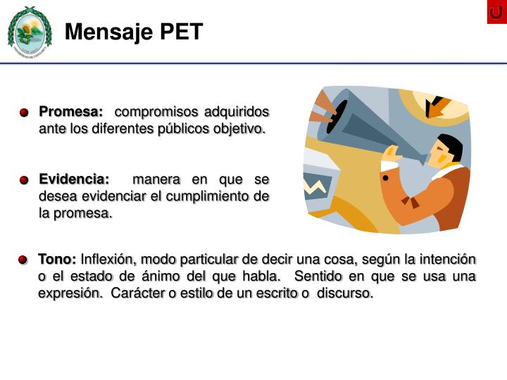 Mensaje PET