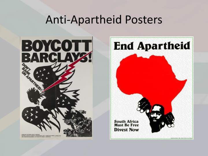 Anti apartheid posters