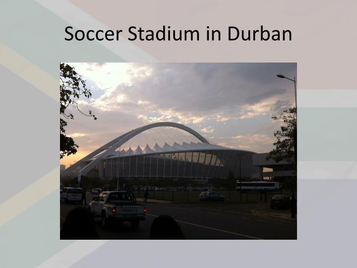 Soccer Stadium in Durban