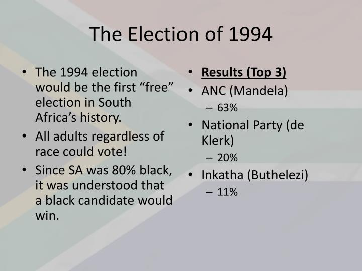 The Election of 1994